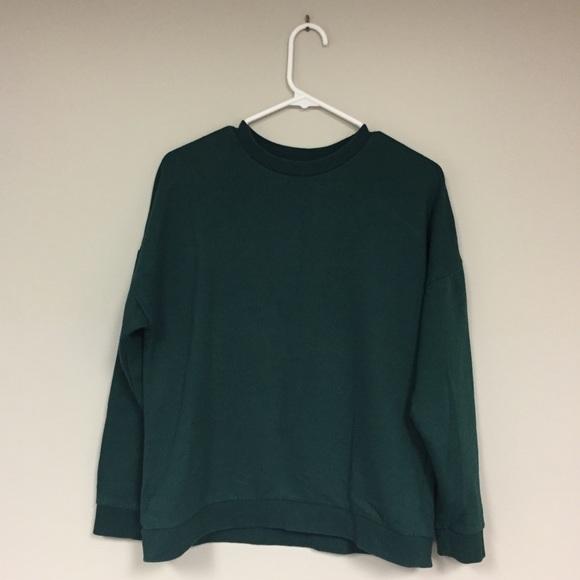 b09668600 Forever 21 Tops   Forest Green Sweatshirt   Poshmark